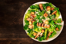 Chicken Caesar Salad On Rustic...