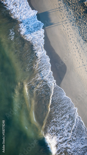 Photo Aerial view of a beach in italy