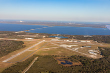 Aerial View Of The Airport In ...