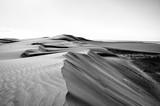 zagubiony krajobraz wydm w czerni i bieli - 158785603