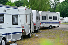 New Touring Caravans Parked In...