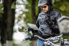 Man With Motorcycle. People, T...