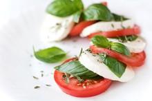 Caprese Salad, Tomatoes, Mozzarella And Basil