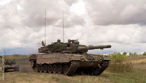 Leopard 2A4 tanks from the Royal Canadian Dragoons C
