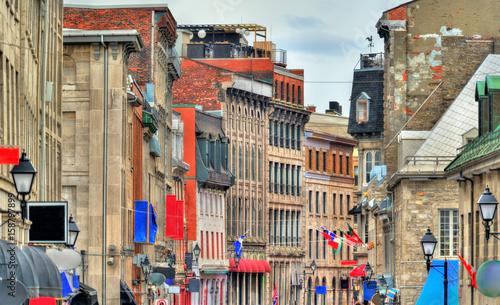 In de dag Havana Buildings in Old Montreal, Canada