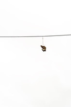 Boots Hanging On Electricty Cable