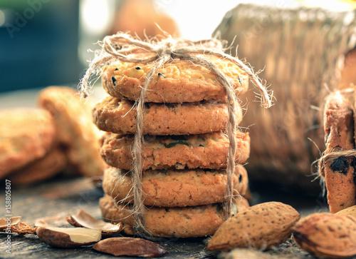 Foto auf Gartenposter Kekse Chocolate chip cookies