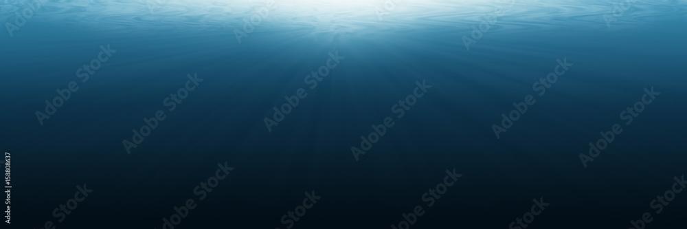 Fototapeta horizontal empty underwater for background and design