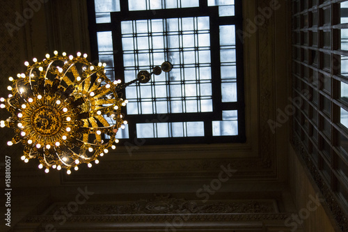 Chandelier from below, Grand Central Station Wallpaper Mural