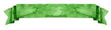 Watercolor Green Banner