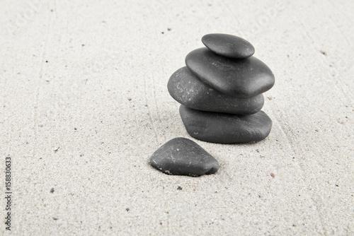 Tuinposter Stenen in het Zand stones on the sand