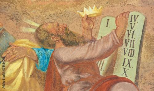 Fresco of Moses and the Ten Commandments