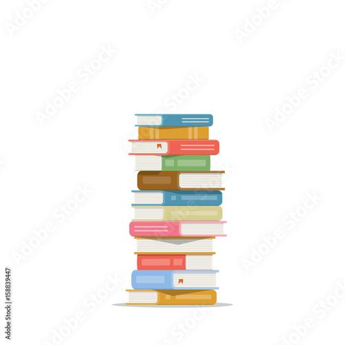 Fotografie, Obraz  Stack of books on a white background