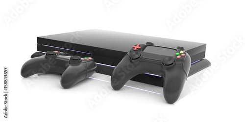 Fotomural  Video games console controller. 3d illustration