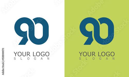 number 90 logo Canvas-taulu