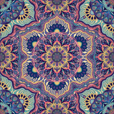 Ornate floral seamless texture, endless pattern with vintage mandala elements. - 158857476