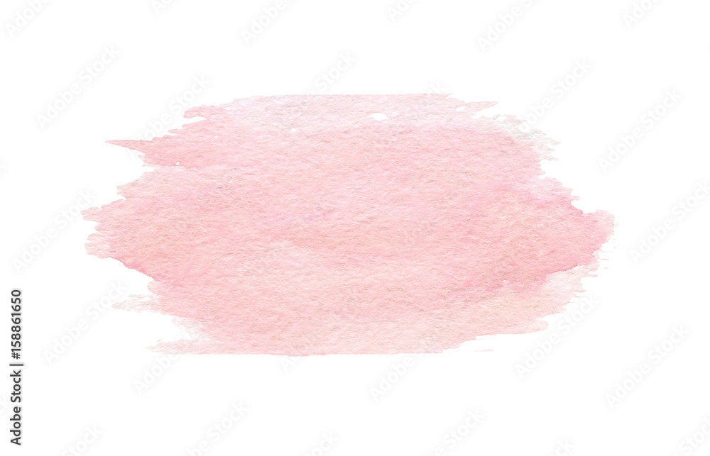 Fototapety, obrazy: Hand drawn watercolor pink texture isolated on the white background