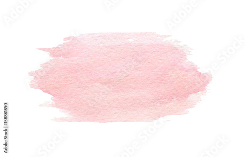 Hand drawn watercolor pink texture isolated on the white background