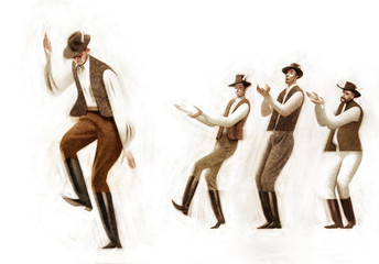 Fototapeta na wymiar Folk Dancers