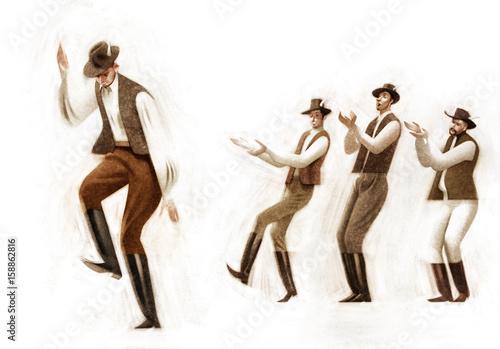 Obrazy na płótnie Canvas Folk Dancers
