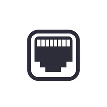 Ethernet, Network Port Icon