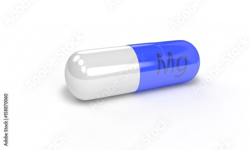 Pill Mg isolated on the white, 3d render - Buy this stock