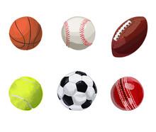 Set Of Sport Balls. Hand Drawn...