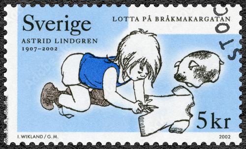 Photo  SWEDEN - 2002: shows Lotta pa Brakmakargatan, series Astrid Anna Emilia Lindgren