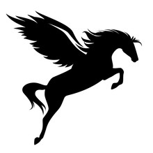 Jumping Pegasus - Winged Horse...