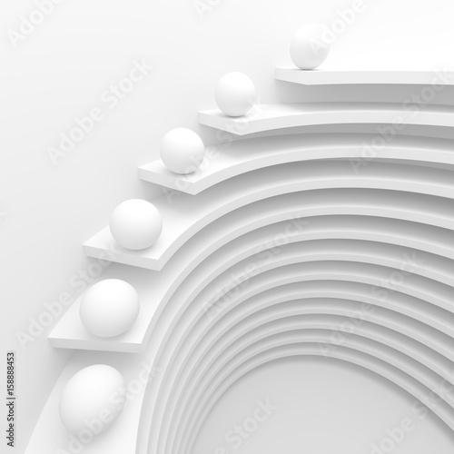 Fototapety, obrazy: White Circular Construction