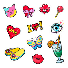 Comic Book Style Stickers