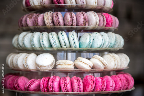 Pyramid of French Macarons