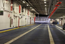 Car Space Inside Of Ferry Boat