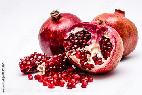 pomegranates-isolated-on-white