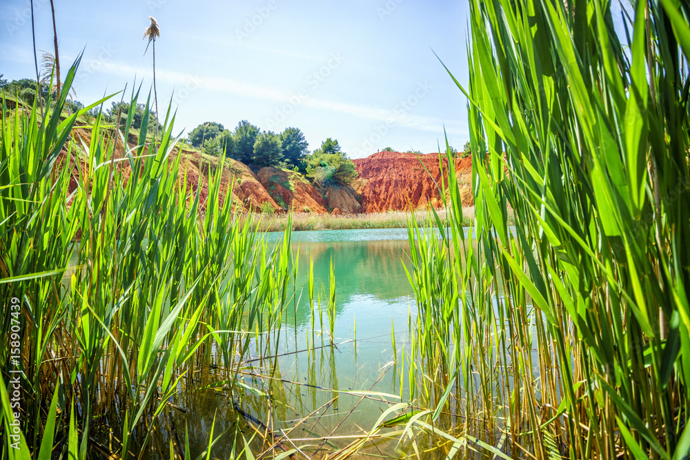Bauxite Quarry Lake in Otranto, Italy
