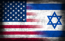 USA And Israel Flag With Grung...