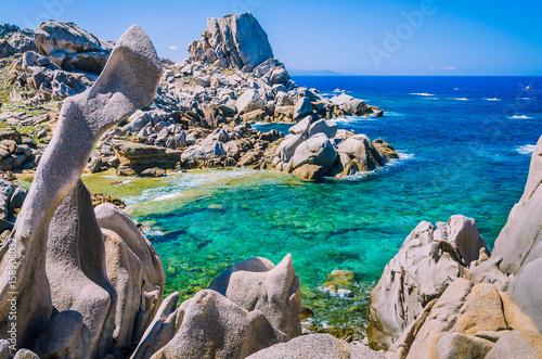 Photo  Rock formations in Capo Testa, Sardinia, Italy