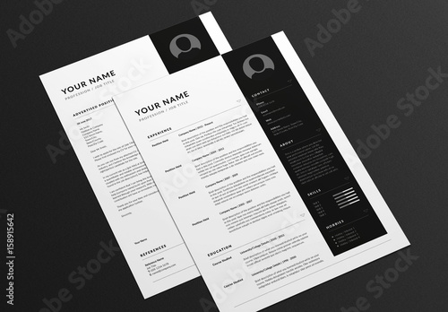 angular resume and cover letter layout   buy this stock