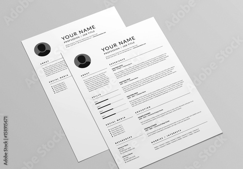 Classic resume and cover letter layout buy this stock template and classic resume and cover letter layout spiritdancerdesigns