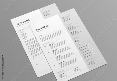 contemporary resume and cover letter layout buy this stock