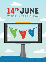 Vector World Bloggers Day Poster