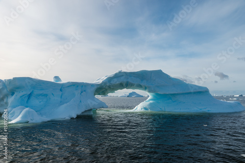 Photo Stands Antarctic Fragile ice bridge in Antarctica