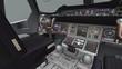 Aircraft cockpit,high-tech dashboard,Pilots operating plane.