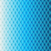 Blue Tiled Rhombus Pattern