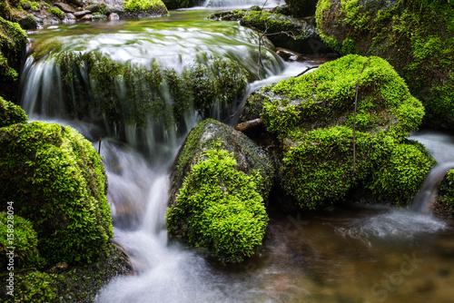 Fotobehang Watervallen Waterfall landscape river
