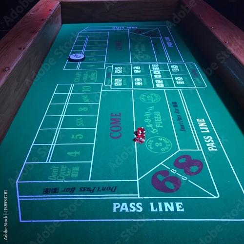 Gambling - craps table плакат