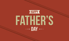 Happy Father Day On Red Background Style