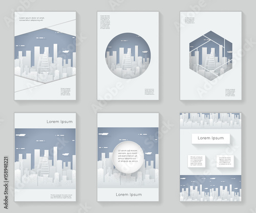 Paper Silhouette Urban Landscape City Real Estate 3d over design ...