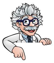 Scientist Cartoon Character Po...