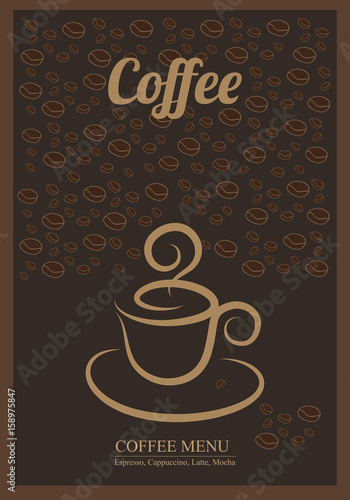 Modern Posters With Coffee BackgroundTemplates For